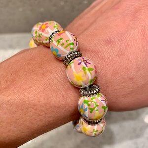 Angela Moore Floral Bead Bracelet